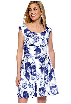 Donna Ricco New York Sleeveless Printed Fit and Flare Dress