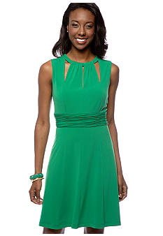 Donna Ricco New York Sleeveless Keyhole Neckline Cut Out Dress