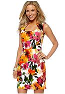 Donna Ricco New York Sleeveless Jacquard Floral Sheath Dress