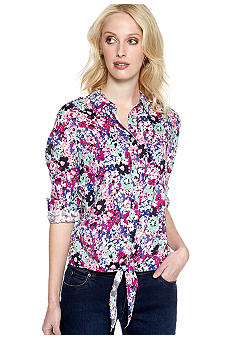 TWO by Vince Camuto Tie Front Boy Shirt