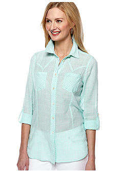 TWO by Vince Camuto Slim Western Shirt
