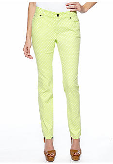 TWO by Vince Camuto Straight Leg Polka Dot Jean
