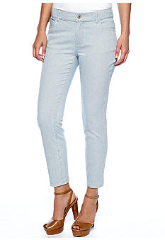 TWO by Vince Camuto Pinstripe Jean with Back Ankle Zipper