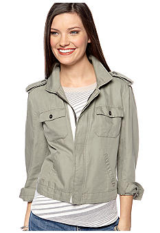 TWO by Vince Camuto Zip Front Utility Jacket