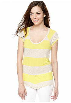 TWO by Vince Camuto Short Sleeve Stripe Tee