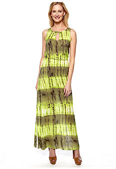 TWO by Vince Camuto Tie Dye Tie Waist Maxi Dress