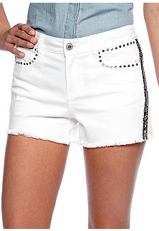 TWO by Vince Camuto Central Denim Embroidered Short