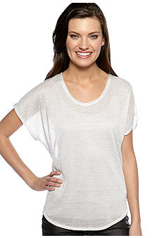 TWO by Vince Camuto Metallic Knit Top