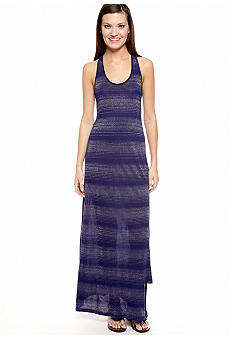 TWO by Vince Camuto Lurex Stripe Racer Back Tank Dress