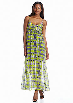 TWO by Vince Camuto Sleeveless Tribal Maze Maxi