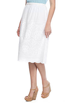 TWO by Vince Camuto Embroidered Midi Skirt