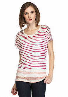 TWO by Vince Camuto Sundeck Stripe Linen Tee
