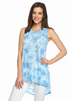 TWO by Vince Camuto High Low Burnout Tank