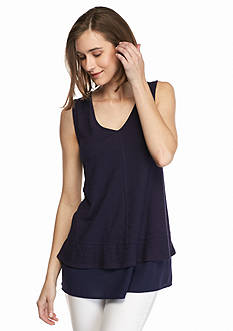 TWO by Vince Camuto Sleeveless V-Neck Tank