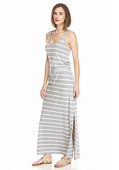 TWO by Vince Camuto Sleeveless Convoy Stripe Maxi Dress