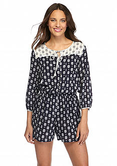 TWO by Vince Camuto Printed Gauze Romper