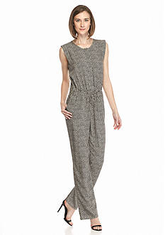 TWO by Vince Camuto Orbit Ditsy Sleeveless Jumpsuit