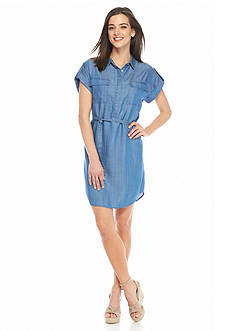 TWO by Vince Camuto Chambray Shirtdress