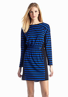 TWO by Vince Camuto Stripe Drop Sleeve Dress