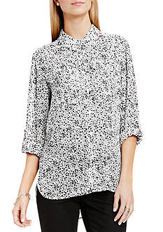 TWO by Vince Camuto Vapor Dots Blouse