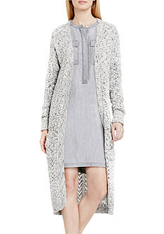 TWO by Vince Camuto Marled Long Cardigan