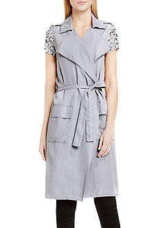 TWO by Vince Camuto Long Belted Vest