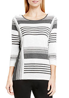 TWO by Vince Camuto Yarn-dye Stripe Shirt