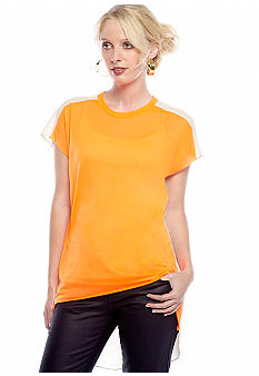 TWO by Vince Camuto Hi Low Color Block Tee