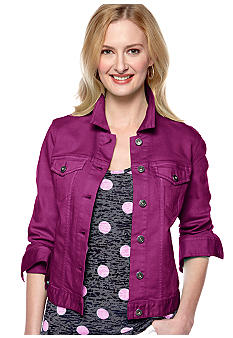 TWO by Vince Camuto Colored Jean Jacket