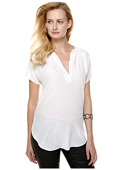 TWO by Vince Camuto Split V-Neck Blouse