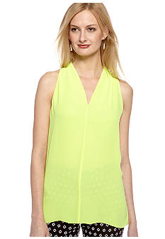 Vince Camuto Sleeveless V-Neck High Low Blouse