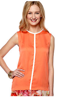 Vince Camuto Sleeveless Contrast Center Seam Blouse