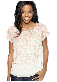 Vince Camuto All Over Embellished Sequin Blouse