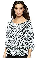 Vince Camuto Three Quarter Sleeve Peplum Blouse