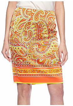 Vince Camuto Paisley Pencil Skirt
