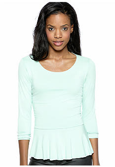 Vince Camuto Three Quarter Sleeve Peplum Top