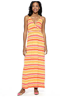 Vince Camuto Sun Streaked Stripe Wrap Maxi Dress