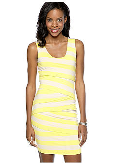 Vince Camuto Zig Zag Bandage Stripe Tank Dress