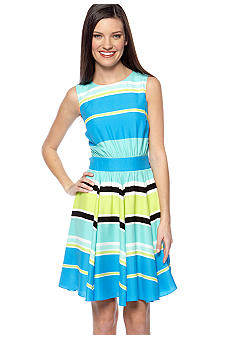 Vince Camuto Sleeveless Variegated Stripe Dress