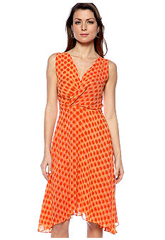 Vince Camuto Sleeveless Wrap Polka Dot Dress
