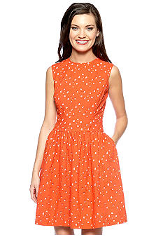 Vince Camuto Eyelet Lace Cut Out Dress