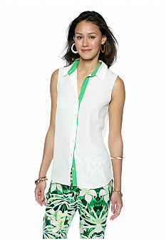 Vince Camuto Sleeveless Button Front Blouse