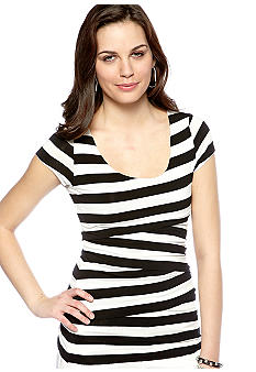Vince Camuto Zig Zag Striped Bandage Top