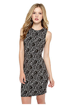 Vince Camuto Sleeveless Chantilly Floral Sheath Dress