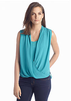 Vince Camuto Wrap Front Knit Top