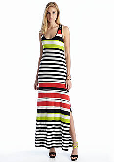 Vince Camuto Multi Stripe Maxi Dress