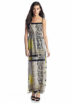 Vince Camuto Thin Strap Neo Snake Maxi Dress