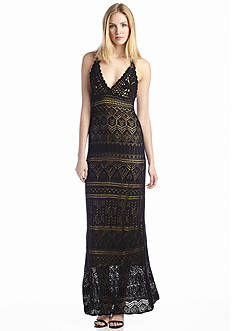 Vince Camuto Crochet Halter Maxi Dress
