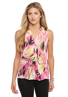 Vince Camuto Tropical Print Sleeveless Blouse
