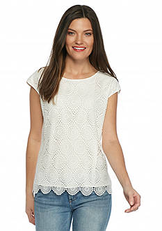 Vince Camuto Circle Lace Top